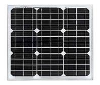 Солнечная монокристаллическая батарея 30Вт. Altek ALM-30M