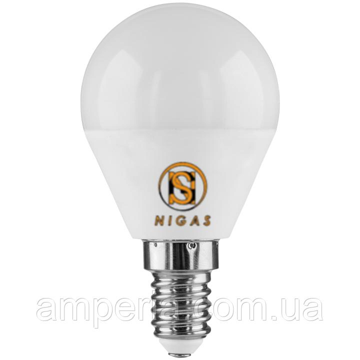 NIGAS Светодиодная лампа LED-NGS-51 G45 E27 4200K 5W, шарик