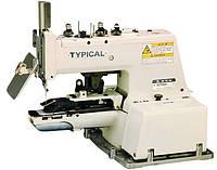 Пуговичная полуавтоматическая швейная машина цепного стежка Typical GT660-01