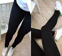 Модные женские лосины черного цвета