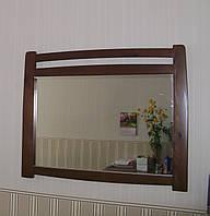 """Зеркало в деревянное опоре """"Сакура""""."""
