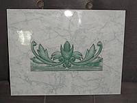 """Плитка керамика  BUZ-5006, """"Панно"""", цвет салатовый фон с темно-зеленым рисунком. Турция"""