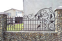 Забор кованый Лист