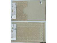 Набор ковриков для ванной Assos 60*100+60*50 см слоновая кость, Arya (Турция) TR1001008