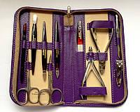 Профессиональный маникюрно-педикюрный набор 11 предметов GLOBOS 6025