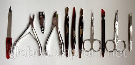 Профессиональный маникюрно-педикюрный набор 11 предметов GLOBOS 6025 orange, фото 2