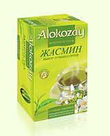 Алокозай зеленый цейлонский пакетированный чай с ароматом жасмина 25 х 2г