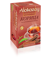 Черный цейлонский чай Alokozay с ароматом корицы в пакетиках 25 х 2г
