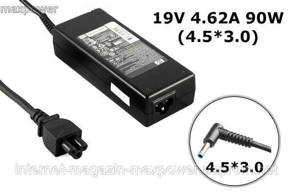 Блок питания для ноутбука Оригинальный HP 19.5v 4.62a 90w (4.5/3.0) PA-1900-34HE, 709566-001, TPC-CA57