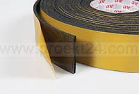 Лента уплотнительная, звукоизоляционная из вспененного каучука 3мм