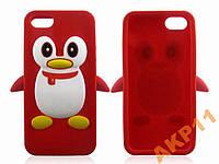 Силиконовый чехол Пингвин для Iphone 4 4s, A193