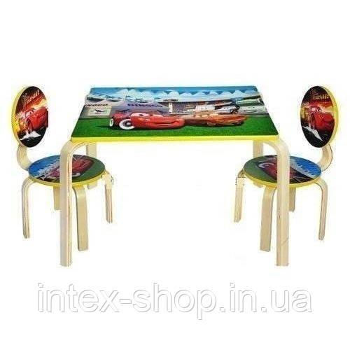 Набор детской мебели G002-294 (детский столик и стульчики), дерево.