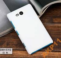Пластиковый прорезиненны чехол для Nokia Lumia 820