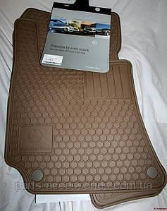 Mercedes W204 C Coupe купе 2008-14 килимки гумові бежеві передні задні нові оригінальні