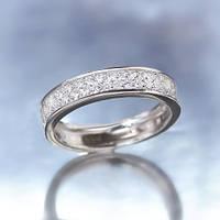 "Серебряное кольцо ""Волшебство"" с прозрачными камнями"