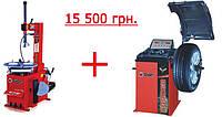 Шиномонтажный станок BRIGHT LC810 и балансировочный станок BRIGHT CB910GB