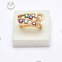 Золотое кольцо  с цирконием 86927