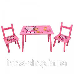 Набор детской мебели Столик + 2 стульчика «Китти» м 0293