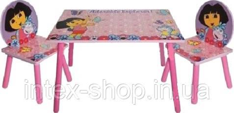 """Детский столик со стульчиками Dorlin Dora J 002-051 «Даша путешественница""""киев"""