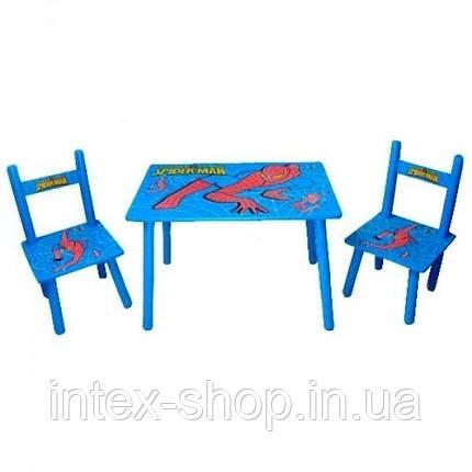 Набор детской мебели Столик + 2 стульчика «Человек-паук» м 0294 КИЕВ, фото 2