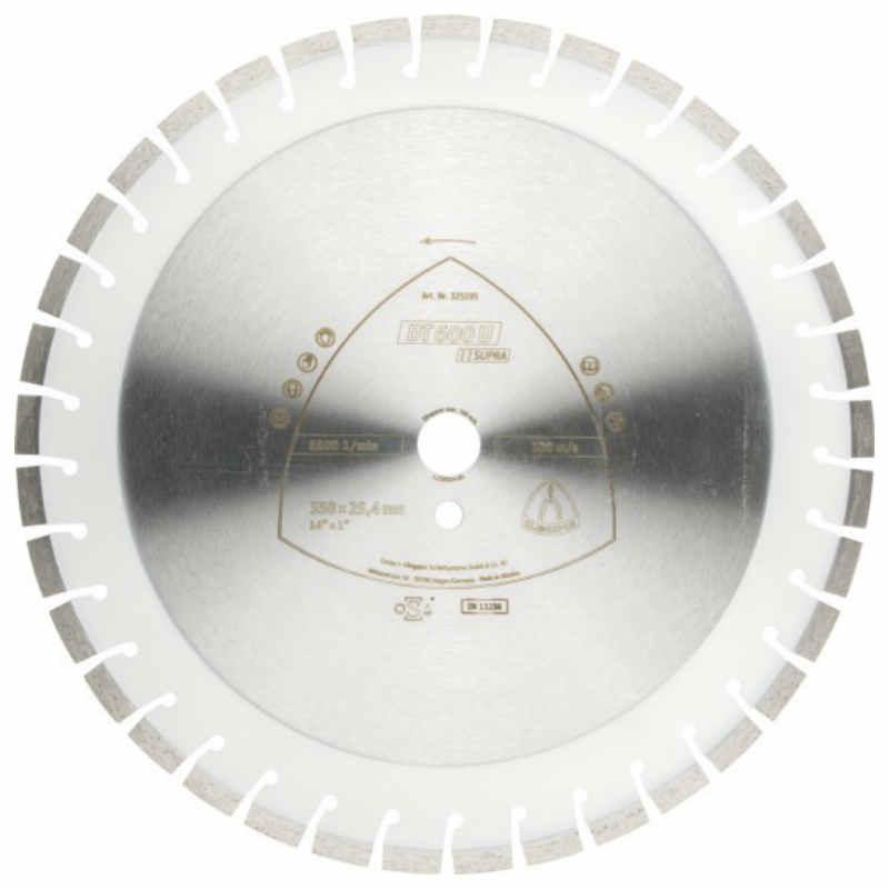 Алмазный отрезной круг Klingspor DT 600 U Supra 500x3,6x25,4/54k/10