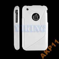 Силиконовый S-line чехол белый для Iphone 3g 3gs