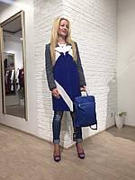 Женское пальто Hanny Deep серое синее