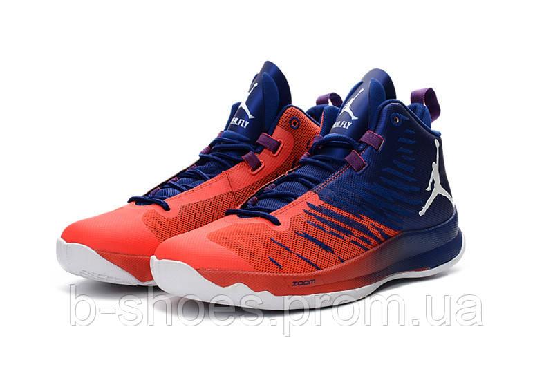 Мужские баскетбольные кроссовки Air Jordan Super Fly 5 (Red/Blue)