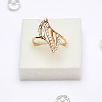 Золотое кольцо  с цирконием 116834