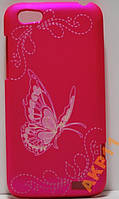 Пластиковый чехол бабочка для HTC One V