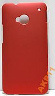 Пластиковый прорезиненный чехол HTC ONE M7 801e