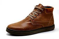 Ботинки зимние мужские на меху Multi Shoes, натуральная кожа, рыжие, р. 40