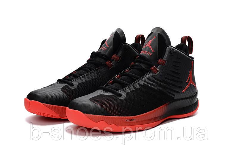 Мужские баскетбольные кроссовки Air Jordan Super Fly 5 (Black/Red)
