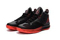 Мужские баскетбольные кроссовки Air Jordan Super Fly 5 (Black/Red), фото 1