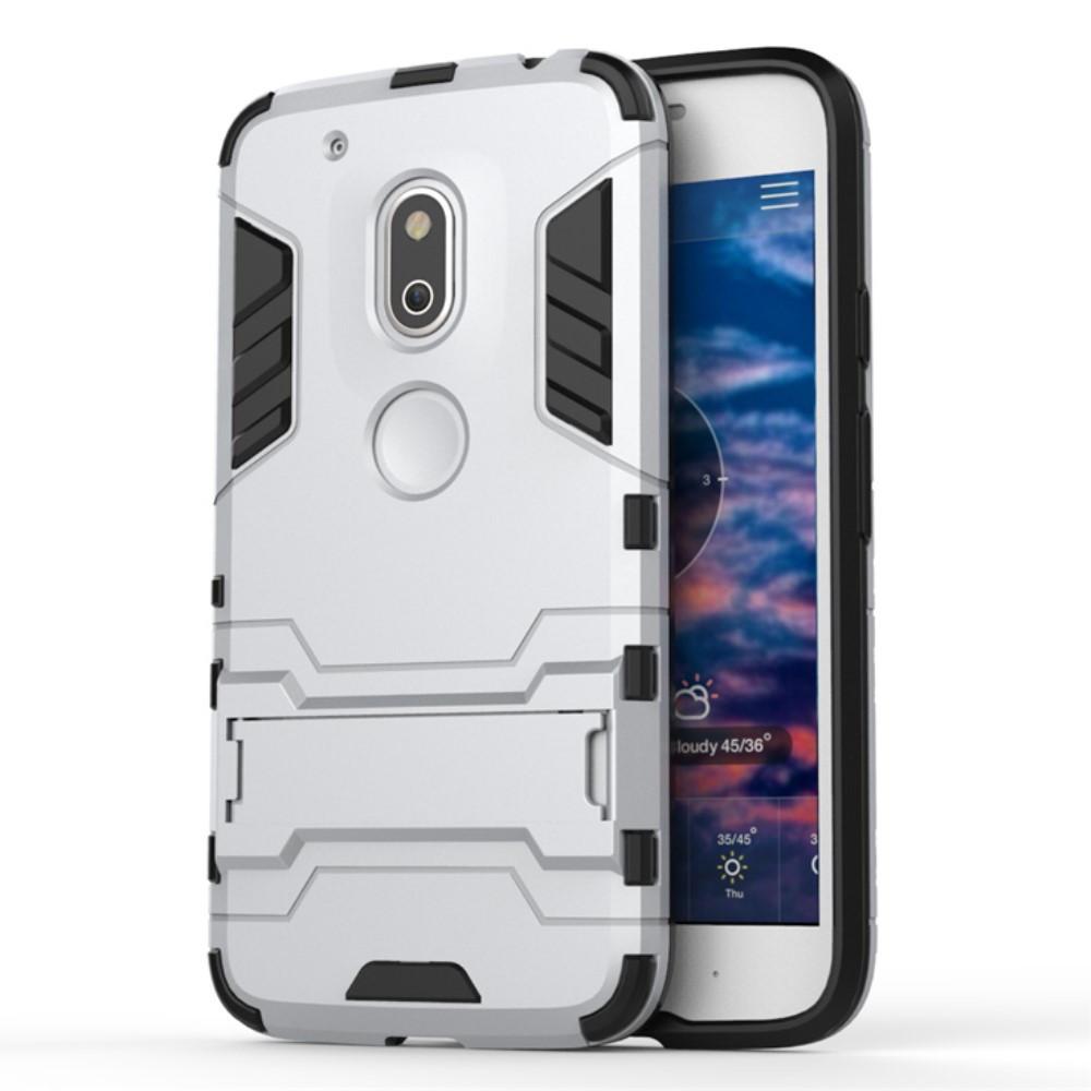 Чехол накладка силиконовый Armor Shield для Motorola Moto G4 Play серебро