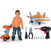 Мастерская Тележка с инструментами и самолетом многофункциональная Planes Dusty Smoby 500252