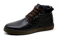 Ботинки зимние мужские на меху Multi Shoes Clarks, натуральная кожа, черные, фото 1