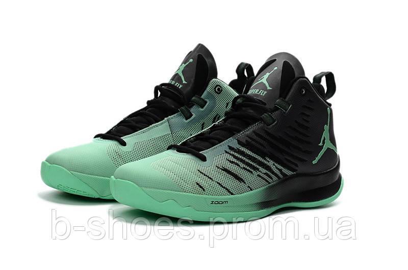 Мужские баскетбольные кроссовки Air Jordan Super Fly 5 (Black/Green)