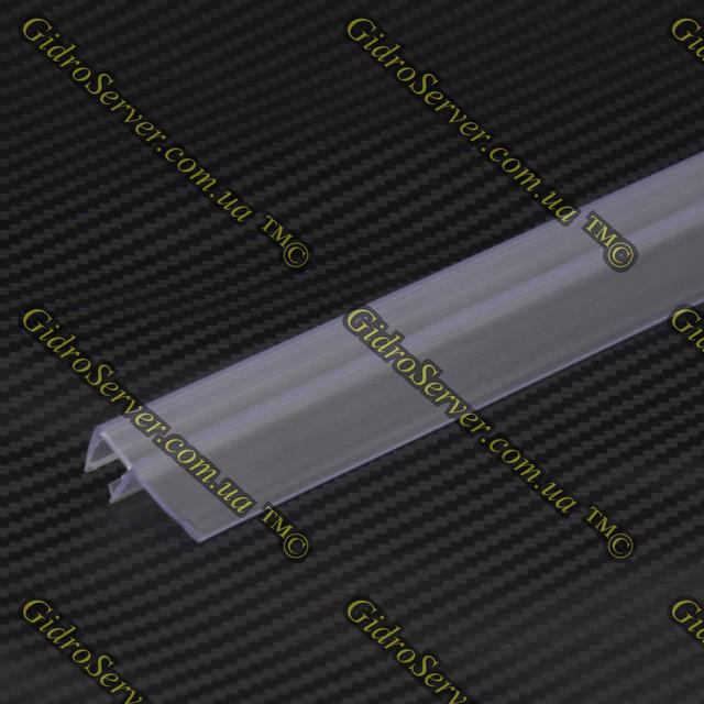 Силиконовый уплотнитель для душевой кабины и гидробокса, устанавливается на торцы стеклянных дверей.
