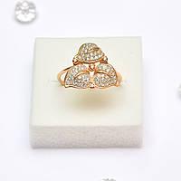 Золотое кольцо  с цирконием 93026