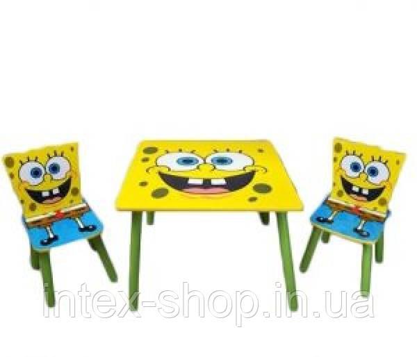 Набор детской мебели Столик + 2 стульчика «Sponge Bob» D 06449