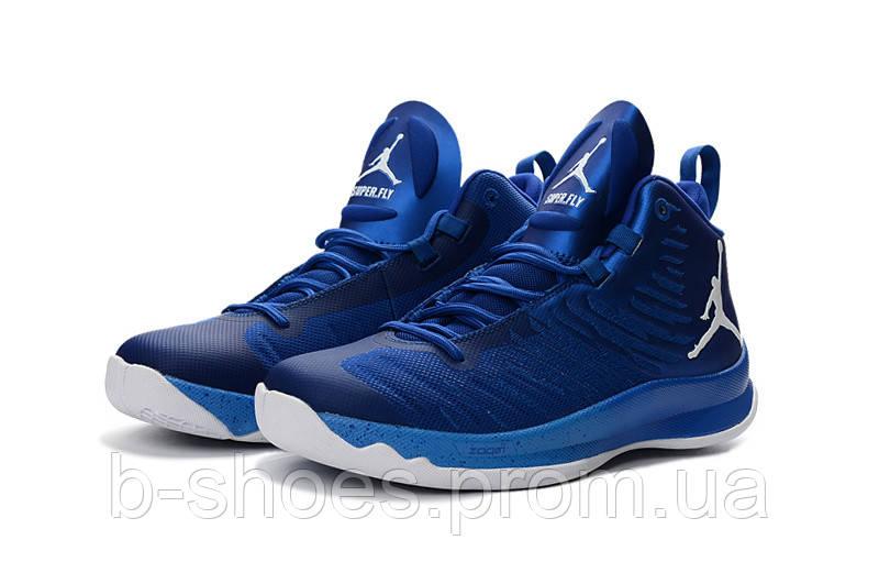 Мужские баскетбольные кроссовки Air Jordan Super Fly 5 (Blue)