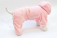 Велюровый костюм Vip Doggy Мимишка 28см  размер M розовый, фото 1