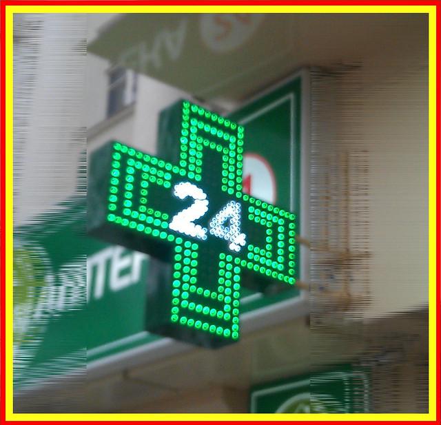 Производство светодиодного аптечного креста.