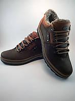 Ecco ботинки 41 размер из натуральной кожи на меху коричневый с рыжим (winter)