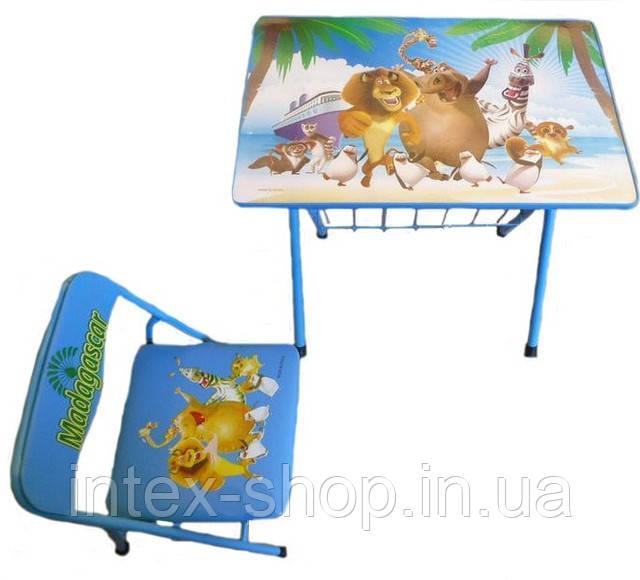 """Детская парта со стульчиком """"Мадагаскар"""""""