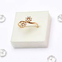 Золотое кольцо  с цирконием 64224