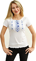 Футболка жіноча з вишивкою XXL біл. Орнамент