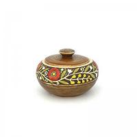 Керамика Веночек Сахарница 14*9 см коричневая