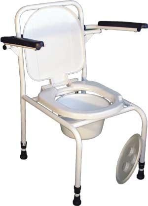 Стул туалет с откидными подлокотниками с регулировкой по высоте (530х600х800..900) СТО-1.1.0